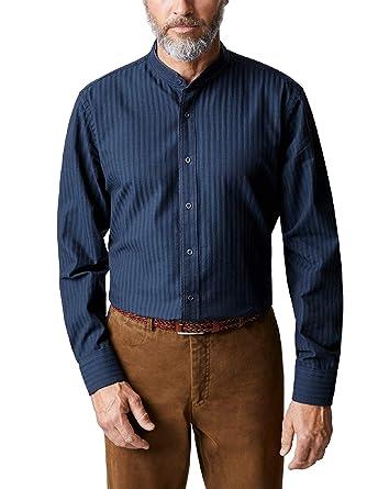 fashion styles reliable quality picked up Walbusch Herren Hemd Denim-Stehkragenhemd Modern Fit ...