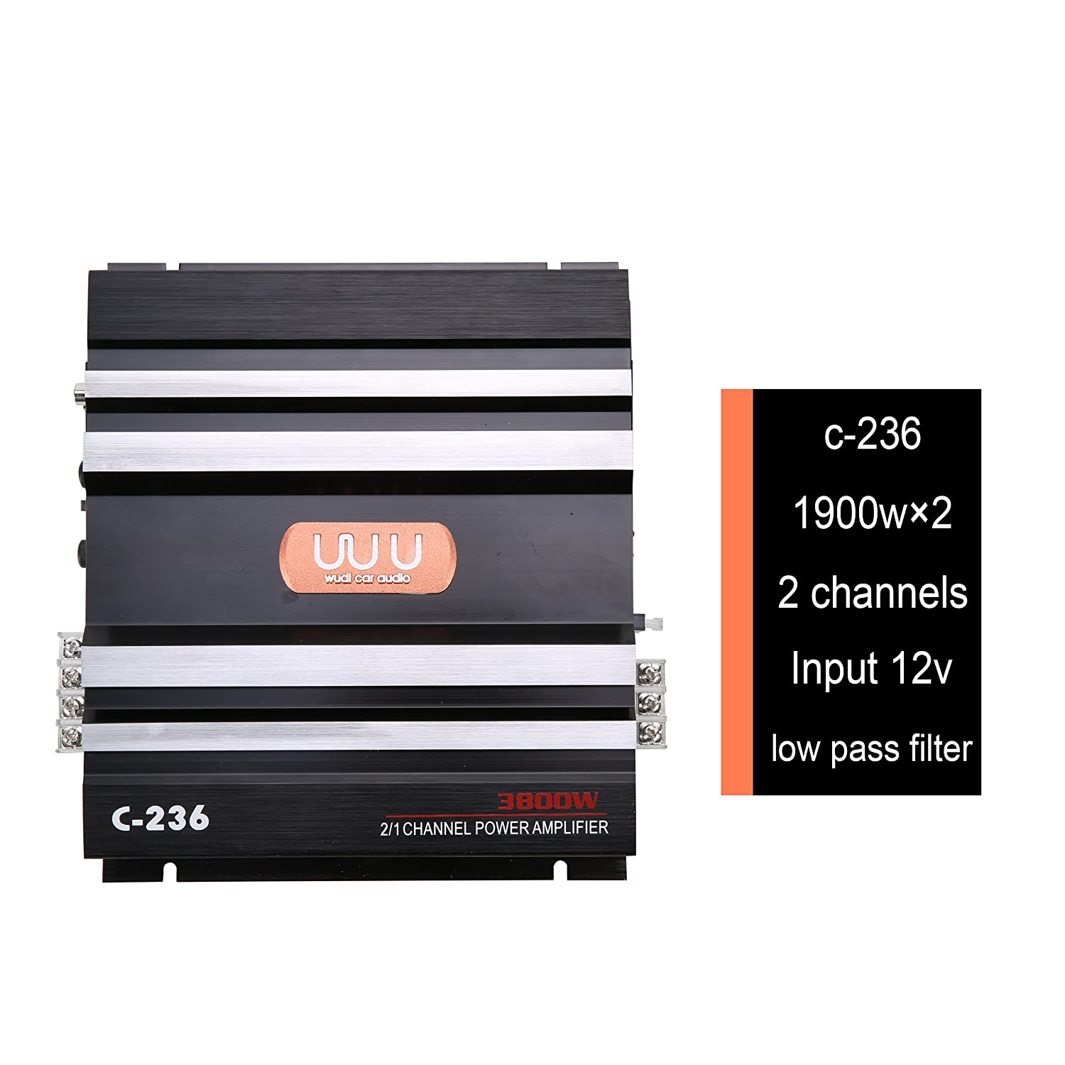 Yaeccc C 236 12v 2 Channel Powerful Car Audio Amplifier Low Pass Filter And Circuit Diagram Super Bass Amp Aluminum Electronics