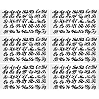 6 Sheets Iron-on Letters Upper and Lower Iron-on Letters Soft Flock Iron-on Letters Flocking Alphabet for T-Shirts…