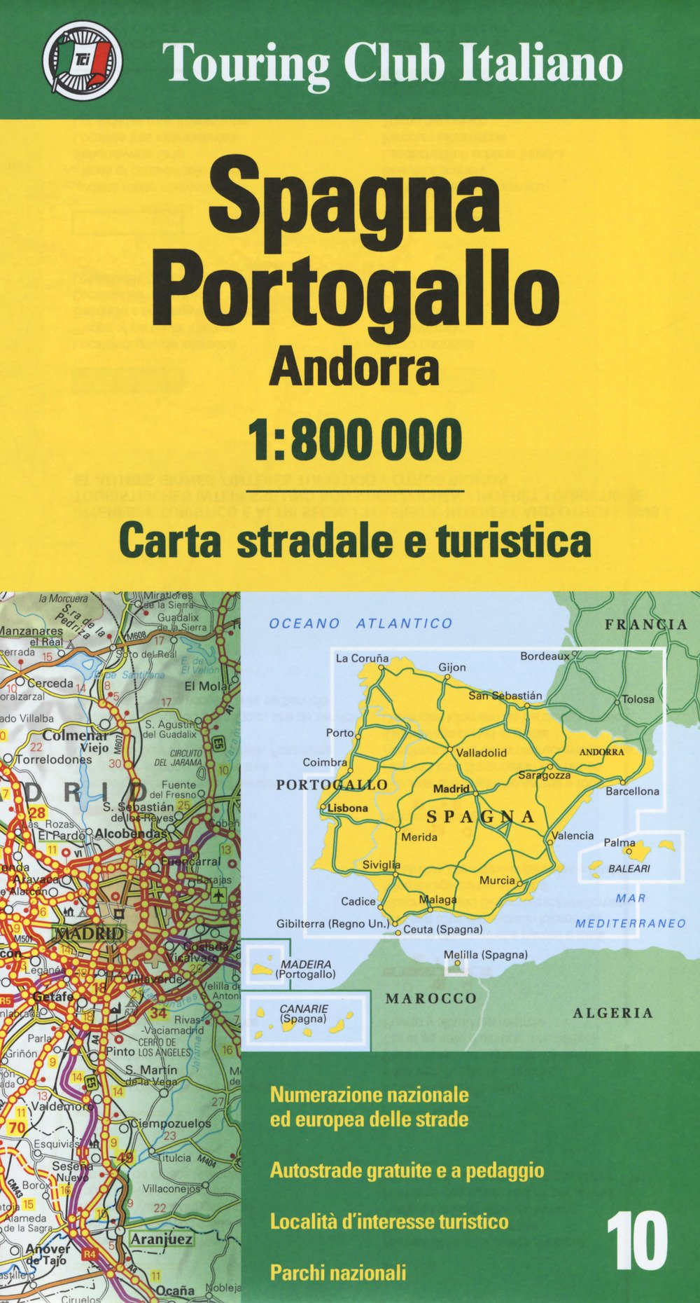 Cartina Stradale Portogallo.Spagna Portogallo Andorra 1 800 000 Carta Stradale E Turistica 9788836573080 Amazon Com Books