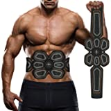 Waitiee Muscle Toner USB Rechargeable Abdominal Toning Belt Abs Stimulator Home Office Workout Fitness Equipment For Abdomen/Arm/Leg Support for Men Women