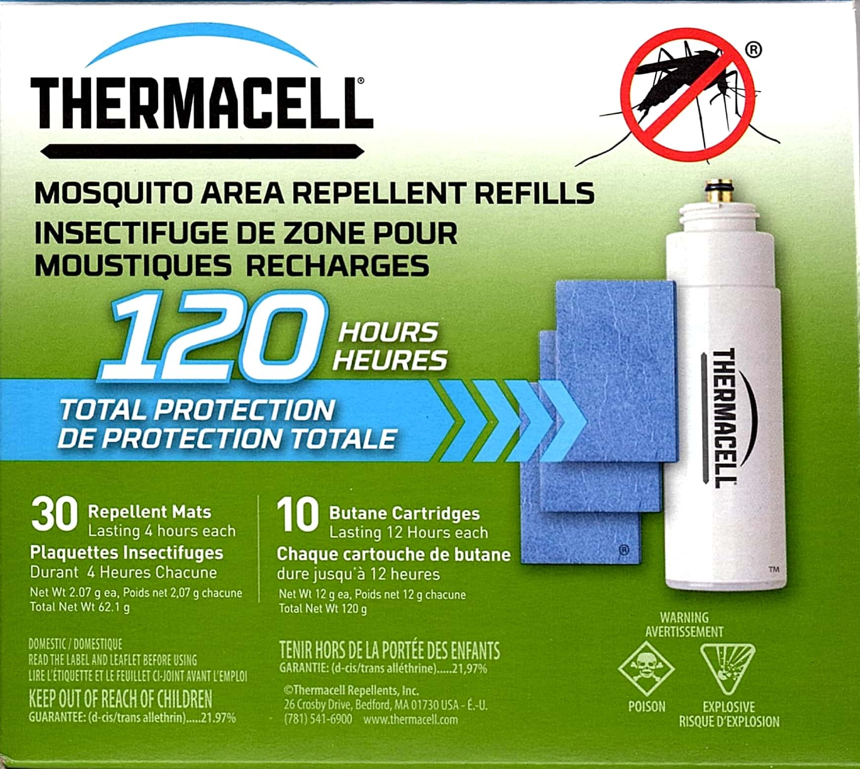 Thermacell Repellents R 10 Butane Refill Cartridge Mega Pack