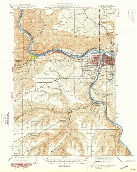 Amazon Com Yellowmaps Clarkston Wa Topo Map 1 62500 Scale 15 X