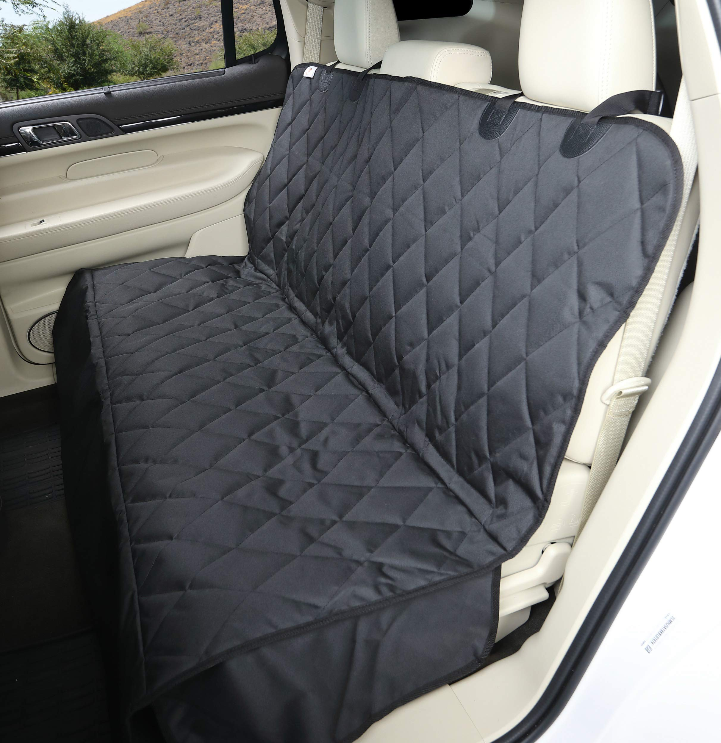 4Knines Dog Seat Cover with Hammock for Full Size Trucks and Large SUVs - Black Extra Large - USA Based Company by 4Knines (Image #2)