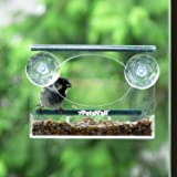 PetsN'all Nourrisseur des Oiseaux en Acrylique transparent pour la fenêtre.