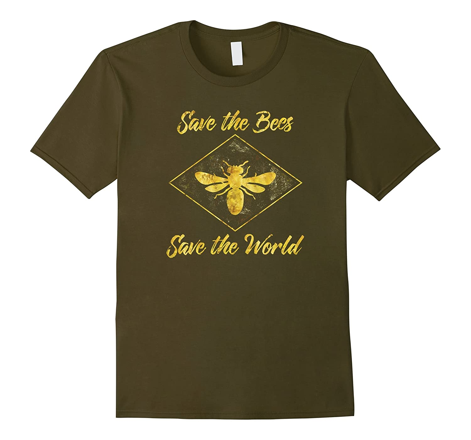 Save the Bees Save the World-Environmental Beekeeper T-Shirt-TD