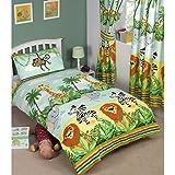 Jungle-Tastic Doppelfederbett-Überwurf und Kissenbezug-Set