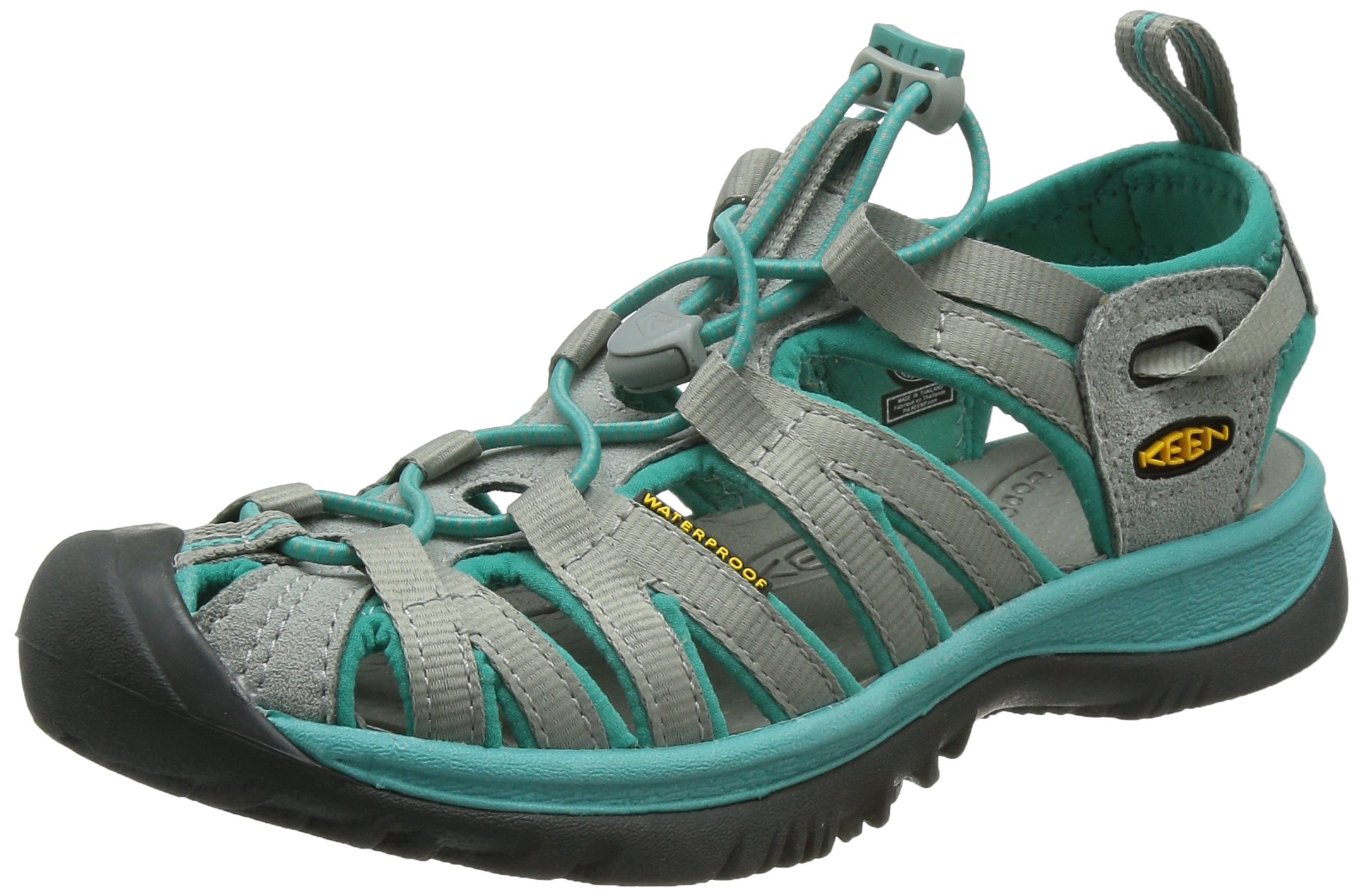 KEEN Women's Whisper Sandal,Neutral Gray/Lagoon,7 M US
