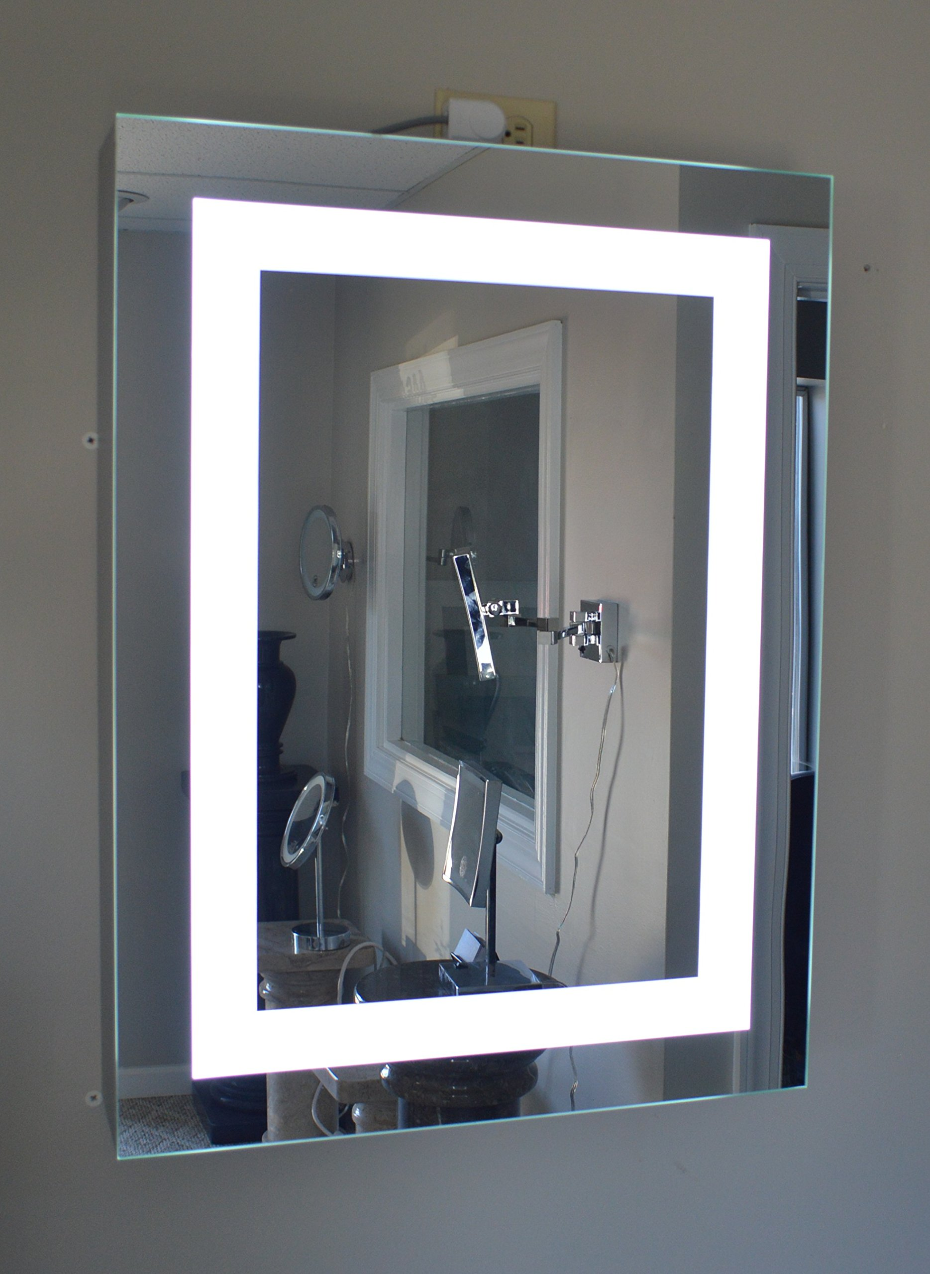 Lighted Medicine Cabinet - 24''w x 36''t - lighted door - commercial grade