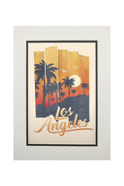 【格安saleスタート】 ロサンゼルス、カリフォルニア – Palm Tree – テープアート Canvas Bag Tote Matted Matted Bag LANT-82380-TT B074WBSSSB 11 x 14 Matted Art Print 11 x 14 Matted Art Print, ダテシ:17a52a54 --- diceanalytics.pk
