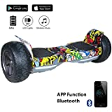 """EVERCROSS 8.5"""" Hoverboard Scooter Patinete del mano Eléctrico Bluetooth APP self balancing (Hiphop)"""