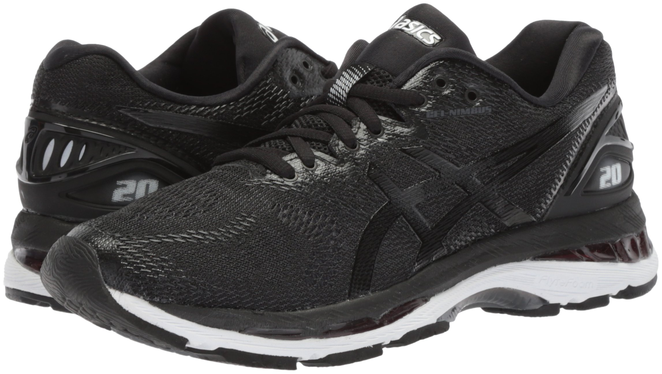 ASICS Women's Gel-Nimbus 20 Running Shoe, black/white/carbon, 5 Medium US by ASICS (Image #5)