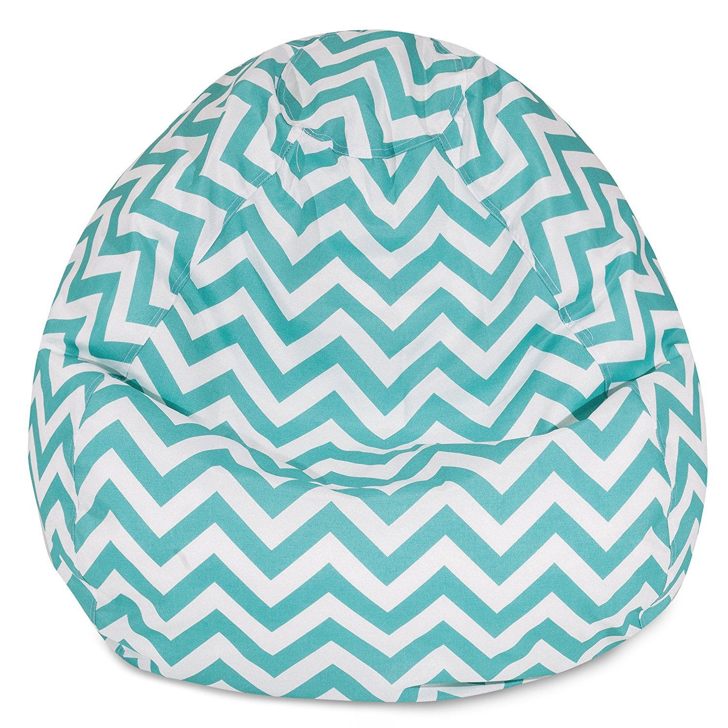 Amazon.com : Majestic Home Goods Classic Bean Bag Chair   Chevron Giant  Classic Bean Bags For Small Adults And Kids (28 X 28 X 22 Inches) (Teal  Blue) ...