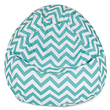 Merveilleux Amazon.com : Majestic Home Goods Classic Bean Bag Chair   Chevron Giant  Classic Bean Bags For Small Adults And Kids (28 X 28 X 22 Inches) (Teal  Blue) ...