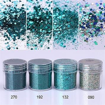 Amazon.com: Nicole agenda 8 cajas Kit de purpurina de ...