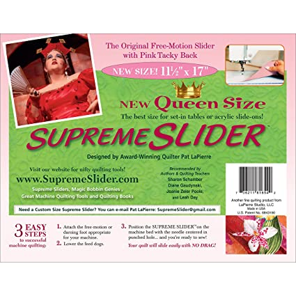 Queen Size Supreme Slider Free Motion Machine Quilting Mat Improved Trimable