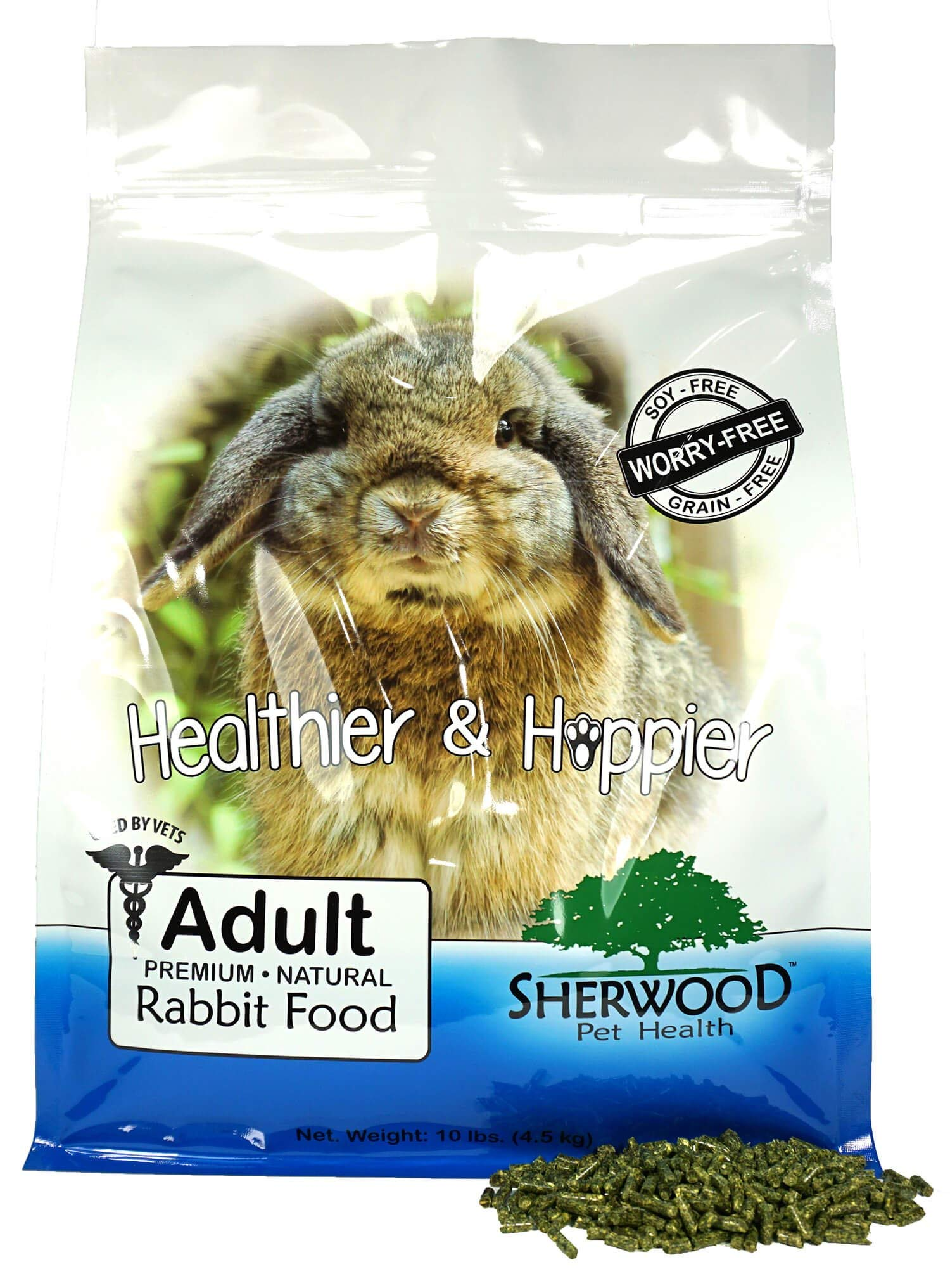 Sherwood Pet Health Rabbit Food-Adult, Timothy/Alfalfa Blend (Grain & Soy-Free) (Vet Used and Recommended) 10 lb. by Sherwood Pet Health