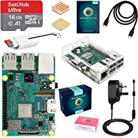 ABOX Raspberry Pi 3 B+ Model B Plus Desktop Starter Kit Clear Case 16GB Class 10 SanDisk Micro SD Card, 5V 3A On/Off Switch Power Supply Adapter [ 2018 Upgraded Version]