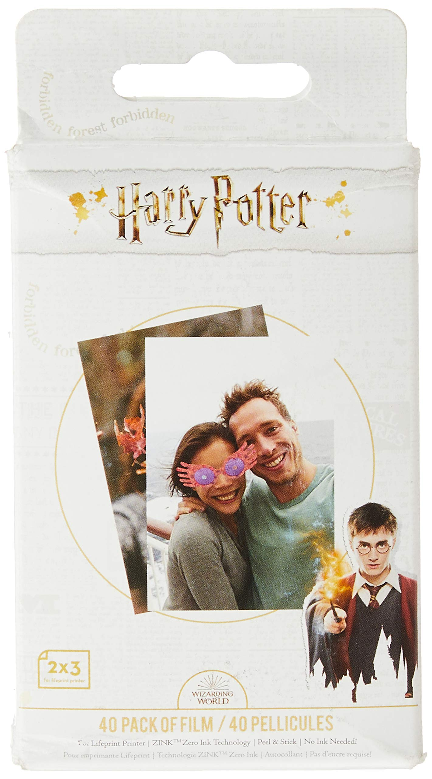 Lifeprint PH50 Harry Potter Magic Photo and Video Printer Sticky Backed Film – 40 Pack, White