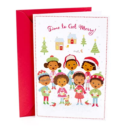 Hallmark mahogany christmas greeting card with song childrens hallmark mahogany christmas greeting card with song childrens choir singing we wish you a merry m4hsunfo