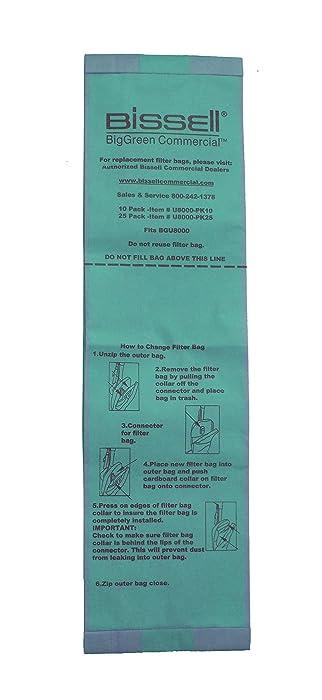 Bissell U8000-PK10 BigGreen Commercial Vacuum Bags