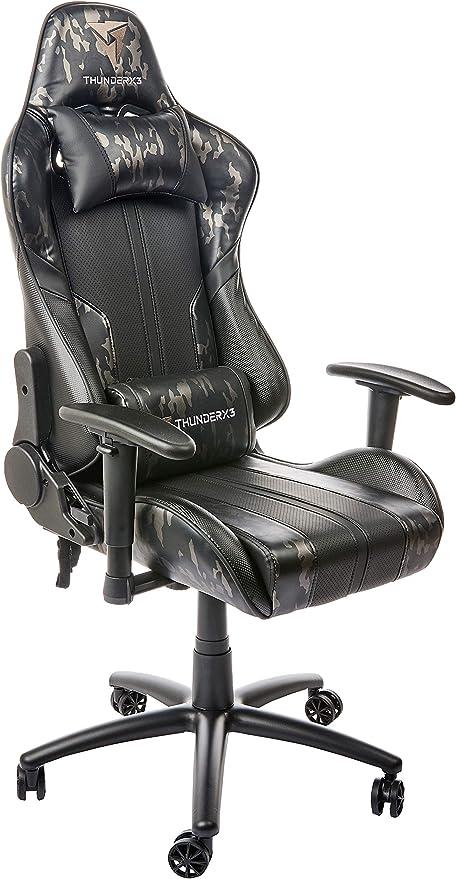 ThunderX3 BC3 CAMO, silla gaming tecnología AIR, transpiración ...
