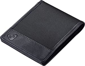 Lewis N. Clark Ballistic Nylon RFID Wallets for Women + Men, Travel Accessories 6 Credit Card Slot ID Sleeve, Bifold Wallet, Black