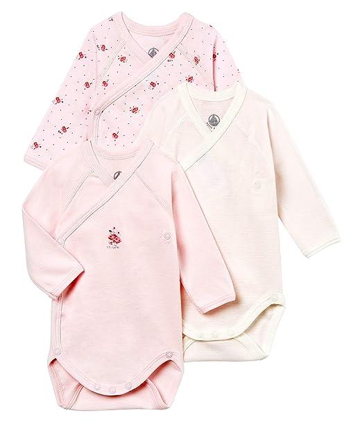 Petit Bateau Baby-M/ädchen Formender Body 3er Pack