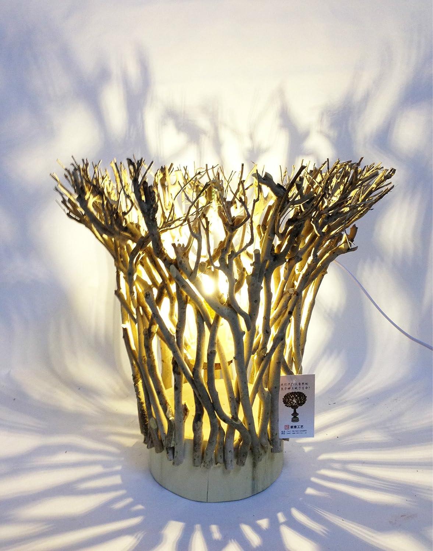 YMXJB Mode kreativ aus Holz handgefertigte Tischleuchte Lampe Schlafzimmer Beleuchtung Büro Studie dekorative Umwelt Lampe