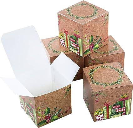 Logbuch-Verlag - Caja de regalo de Navidad (10 x 10 cm, cuadrada ...