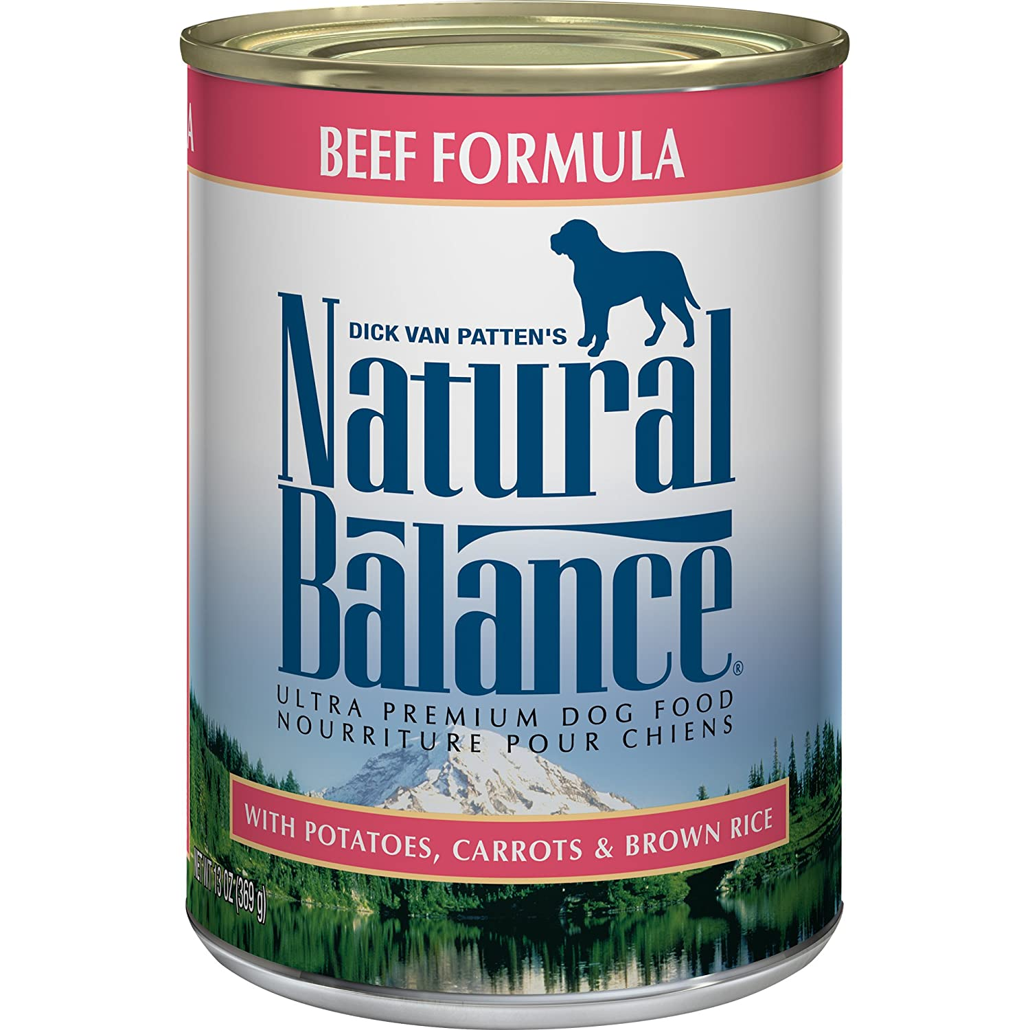 Natural Balance Ultra Premium Canned Dog Food Beef Formula 13-Ounce (Pack of 12)