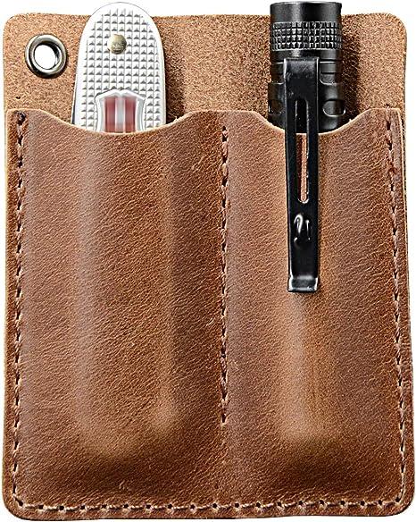 Amazon.com: Organizador de bolsillo de cuero EDC, bolsillo ...