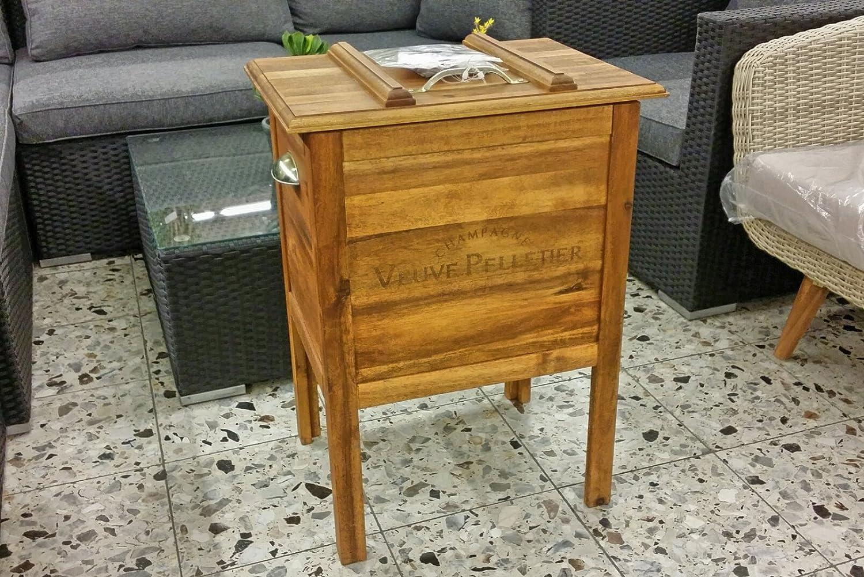 Mcc Trading Holz Kühlbox Akazienholz Zinkbox Im Inneren Io Hxlxb