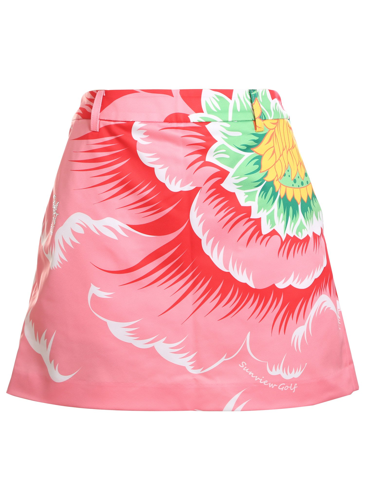 SunviewGolf Women's A-Line Golf Skorts Floral Printed Mini Casual Skirt Red XS