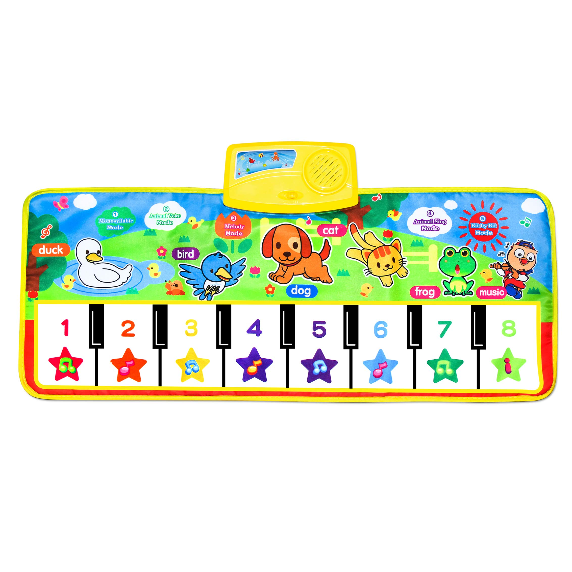 Piano Musical Mat,Giant Educational Pre-Kindergarten Toys,15 Keys Keyboard Floor Mat by zoordo