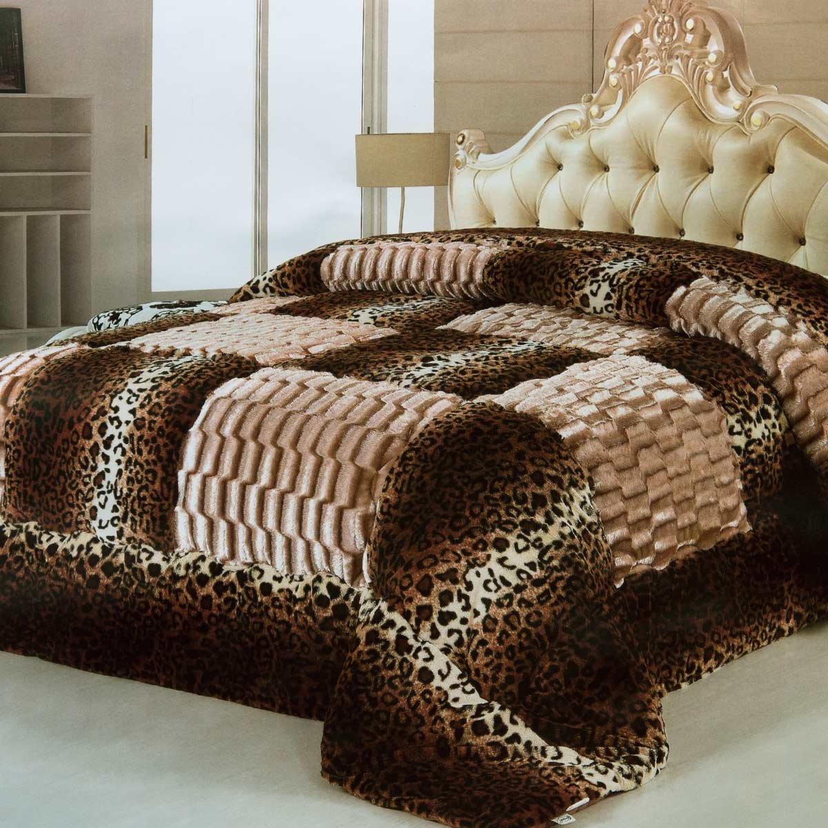 Trapunta piumone invernale matrimoniale leopardato ecopelliccia ...