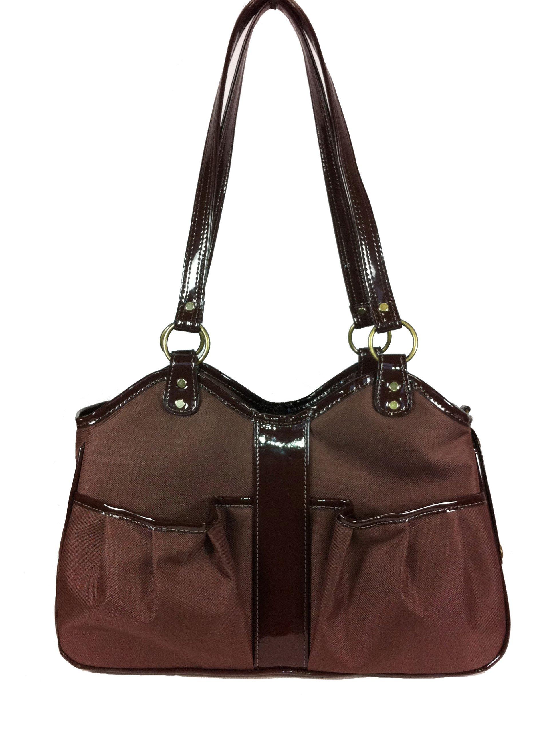Petote Metro Classic Pet Carrier Bag, Large, Chocolate