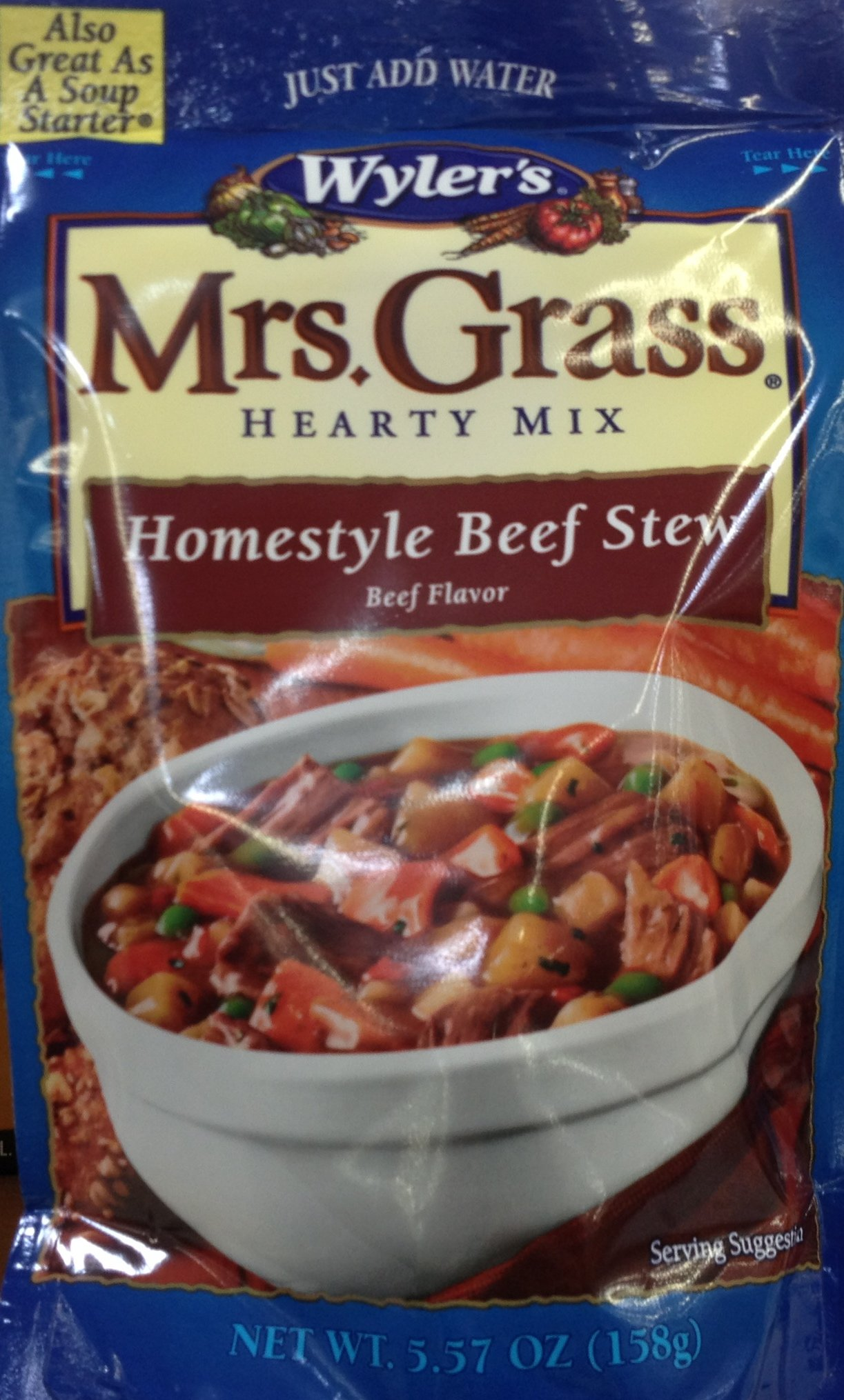 Mrs. Grass Homestyle Beef Stew Mix 5.57oz (Pack of 3)