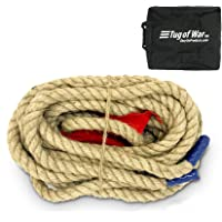 EASYGO 33 Foot TUG of WAR Rope with Flag – Kids and Adults Family Game – Team Building – Soft Rope - Professional Long…