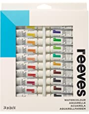 Reeves Watercolour Paint-10ml, Set of 24