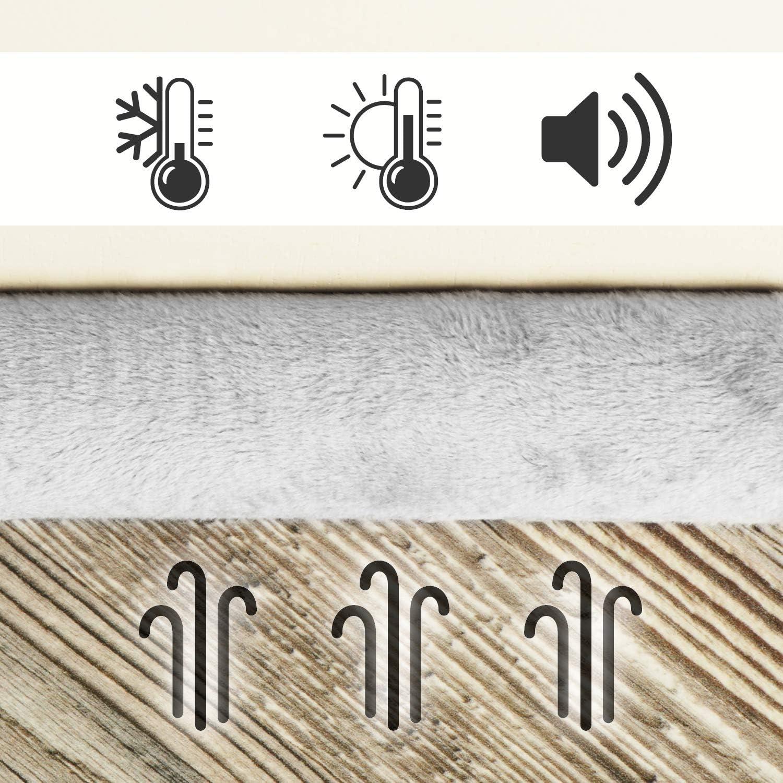 Protection Contre Les Courants dair et Le Bruit 02 pi/èces - Anthracite com-four/® But/ée de tirage de Porte 2X But/ée de tirage avec Double Joint Joint de Porte en Microfibre