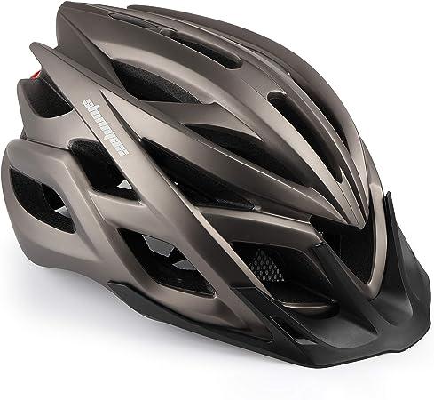 Shinmax Casco Bicicleta, Certificado por CE, Casco de Bicicleta con Visera Desmontable Casco de Bicicleta de Carretera para Hombre y Mujer Protección ...