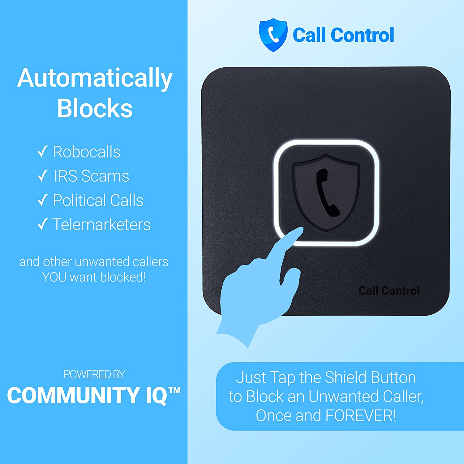 Call Control Home - Automatically Block Calls! Blocks All Spam Calls,  Robocalls, Telemarketers and