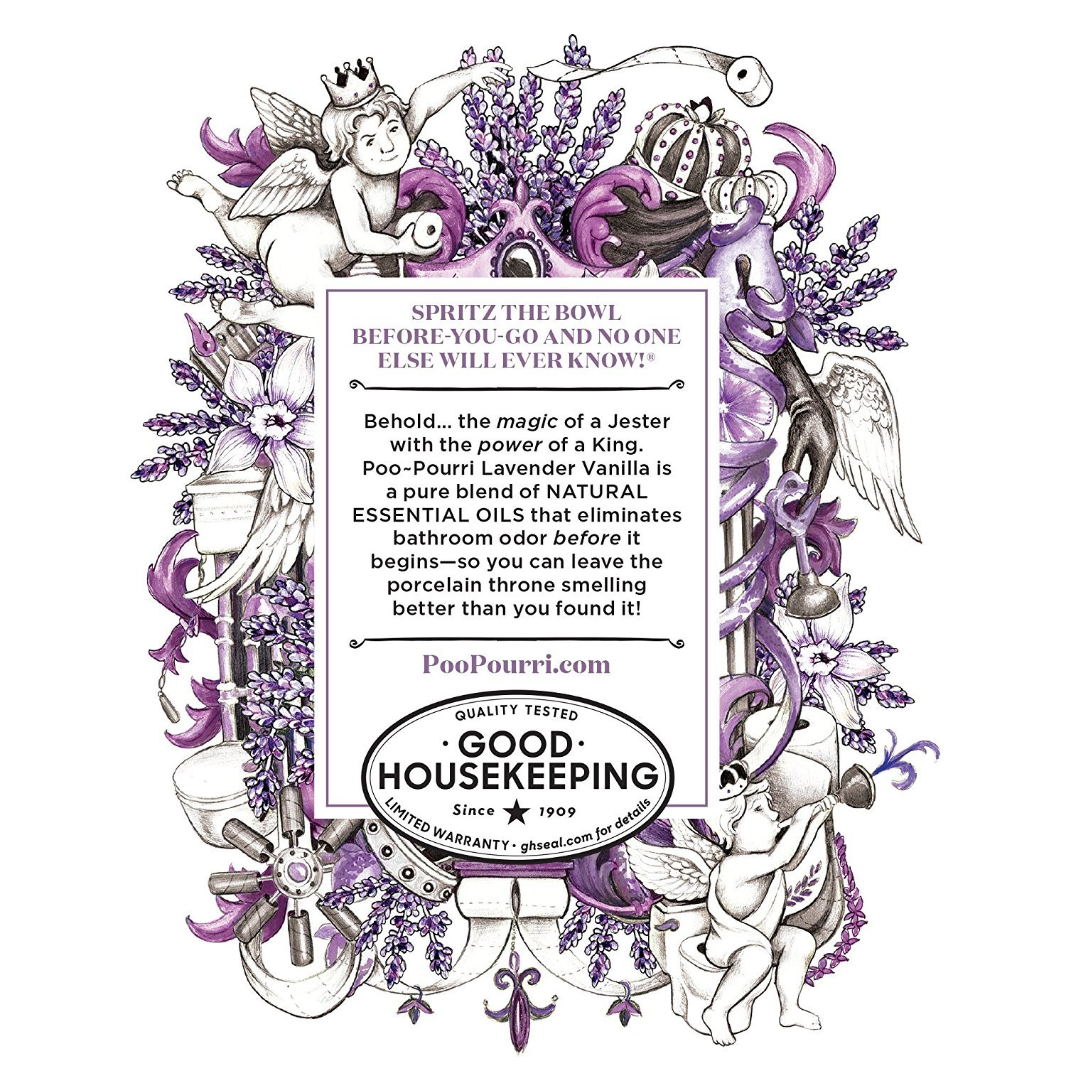 Poo-Pourri Before-You-Go Bathroom Spray, Lavender Vanilla - 2 Ounce, 2 Pack with Ornament Box   by Poo-Pourri (Image #3)