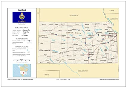 Amazon.com : 13x19 Kansas General Reference Wall Map - Anchor Maps on gulf of mexico on a usa map, new orleans on a usa map, orlando on a usa map, mississippi river on a usa map, phoenix on a usa map, grand canyon on a usa map, minneapolis on a usa map, great salt lake on a usa map, chesapeake bay on a usa map,