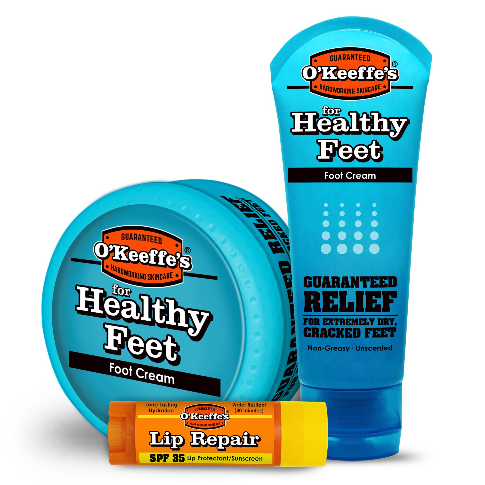 O'Keeffe's K0980058 Summer Variety Foot Cream, Lip Balm, various by O'Keeffe's