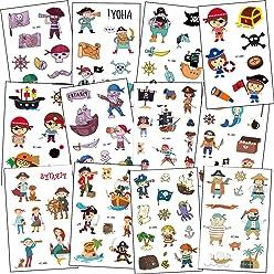 Tatouages Enfant Tatouage Manchot Tatouages Temporaire Tattoos /Étanche Tatouages Animaux Autocollants F/ête de Animaux ou lanniversaire denfant Sac de F/ête Cadeaux,9 Feuilles