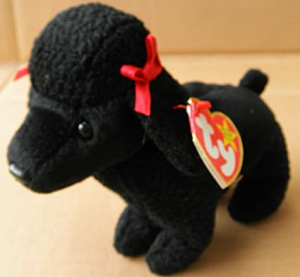 5b350b7bb09 Image Unavailable. Image not available for. Color  TY Beanie Babies Gigi  The Poodle Dog Plush Toy Stuffed Animal
