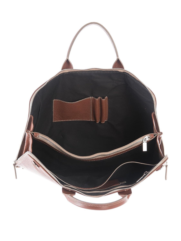Elizabetta Handmade Italian Slim Leather Attache Laptop Briefcase-Black
