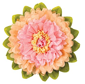 Amazon luna bazaar giant tissue paper flower 24 inch pink luna bazaar giant tissue paper flower 24 inch pink cantaloupe orange mightylinksfo